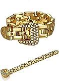 SHIJIAN Chapado en cobre con circonita de oro auténtico