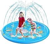 DIVERTIMENTO PER L'ACQUA ALL'APERTO: Batti il caldo dell'estate, sprinkler per bambini. Il diametro di 68 pollici di giocattoli per bambini con sprinkler per esterni può ospitare fino a 4 persone e divertirti con i tuoi bambini all'aperto. FACILE D...