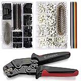 Estmoon Crimpzange Dupont Stecker Set, 1550 PCS 2,54mm Dupont Steckverbinder + Crimp Pins + 1 IDC Kabel, 760 PCS 2,54mm JST-XH JST Stecker Kit Crimpkontakten und Buchsengehäuse (AWG 26-20, 0,1-0,5mm²)
