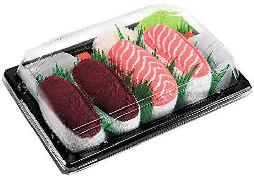 Rainbow Socks - Damen Herren - Sushi Socken Thunfisch Salmon - Lustige Geschenk - 2 Paar - Größen 36-40