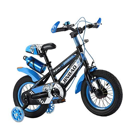 Hemisgin 18 Pollici Bicicletta per Bambini con Ruote da Allenamento, Bici con Impugnatura Antiscivolo per Bici da Bambino con stabilizzatori, Bottiglia d'Acqua e Supporto Rational