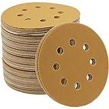 Mestool 58-AP Gold 5-Inch 8-Hole 220 Grit Dustless Hook&Loop 100-pack (220)