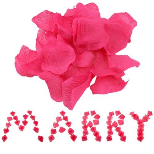 2000 Silk Rose Petals Wedding Decorations Bulk Supplies SALE - Hot Pink