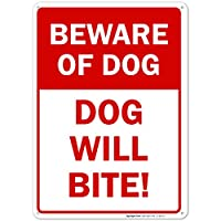 Beware of Dog Sign, Dog Will Bite Sign [並行輸入品]