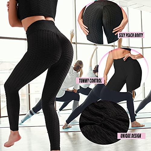 Merlvida Cintura Alta Leggins Mujer Push Up Anti-Cellulite Mallas de Deporte de Mujer - Elásticos Leggins Deportivos Mujer Levante Los Pantalones de Yoga/Ropa Deportiva Mujer para Yoga Fitness Running