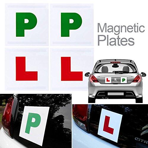 Volledig magnetische L & P platen voor nieuwe en recente getrainde drivers (2 Pack L platen en 2 Pack P platen)