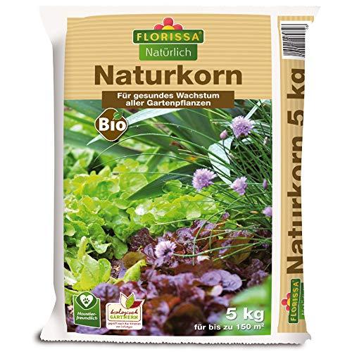 Florissa Natürlich 58990 Naturkorn - Bio-Dünger als Alternative zum Blaudünger | biologisch GÄRTNERN Gütesiegel, Braun