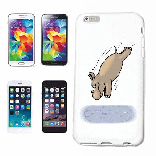 Funda para iPhone 7+ Plus, diseño de hipopótamo en buceo, dibujos animados, divertido, película de dibujos animados, divertido, carcasa rígida Han