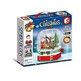 Lihgfw Weihnachtsbaumlichter Weihnachten rotierende Hütte Musikbox Kleine Partikel Bausteine Kinder Pädagogische Montage Spielzeug (Color : Multi-Colored)