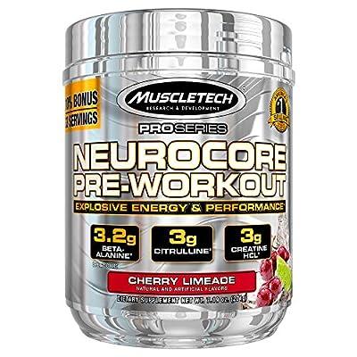 MuscleTech NeuroCore, Icy Blue Raspberry Explosive Pre Workout, 36 Servings