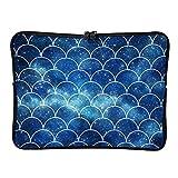 DKISEE - Funda para portátil de 13 pulgadas, diseño de escala de sirena, color azul