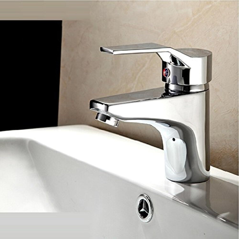 Aawang Basin Sink Mixer Tap Bathroom Faucet Full Copper Face Basin Hot And Cold Faucet