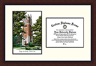 Campus Images MI989LV Michigan State Beaumont Hall University Legacy Scholar Diploma Frame, 8.5