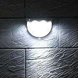 Set Luz solar LED Lámpara de energía solar a prueba de agua Sensor Luz de pared 6 LED Encendido/apagado automático Lámpara de cerca de patio de jardín al aire libre