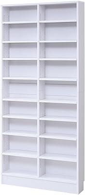 JKプラン MEMORIA オープン 本棚 文庫本 ラック 棚板 1cm 間隔 可動式 薄型 幅 81 ホワイト FRM-0101-WH