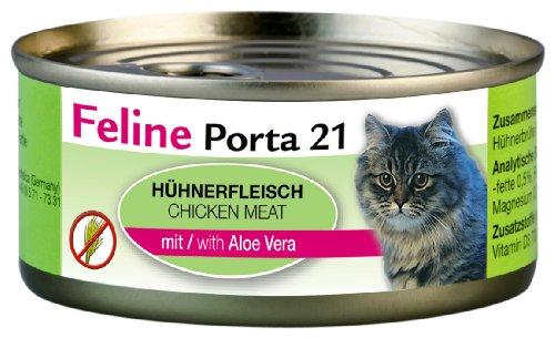Feline Porta Katzenfutter Feline Porta 21 Huhn plus Aloe 156 g, 6er Pack (6 x 156 g)
