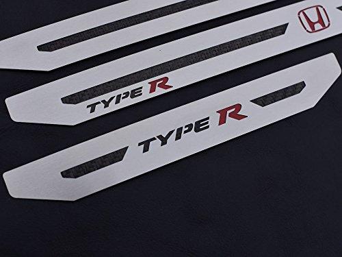 Umbrales De Acero para CIVIC X TYPE R V FK8-4 Piezas Molduras Protección Inox Metal Cepillado Interior Personalizados Hechos a Medida Tuning