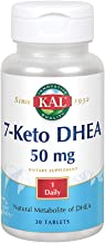 KAL 7-Keto DHEA 50mg | Healthy Weight Management Support for Women & Men* | Rapidly Disintegrating Tabs | 30ct, 30 Serv.