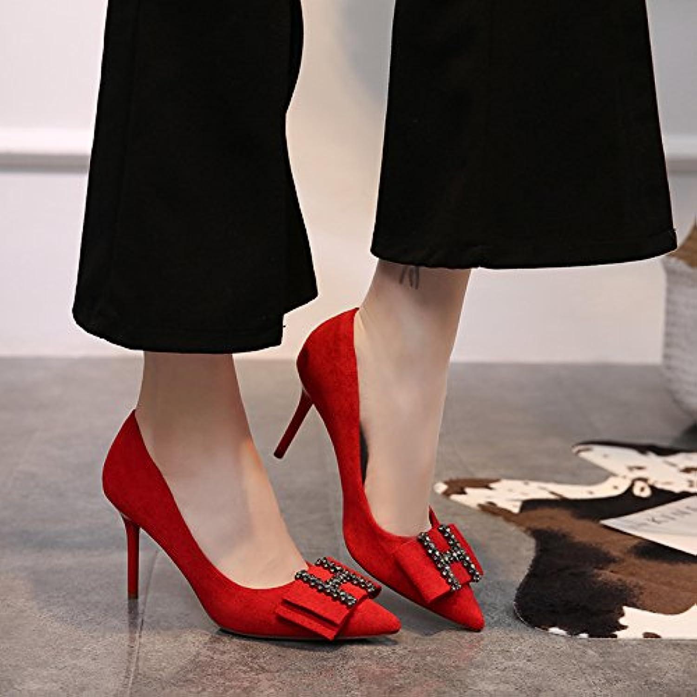 HOESCZS Frühling Neue Neue Neue Spitzen High Heel Stiletto Strass Einzelne Schuhe Damenmode Damenschuhe 6d629c