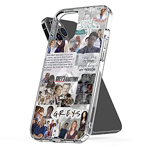 Phone Case Grey's Clear Anatomy Funny Best Waterproof Quote TPU Collage Pc Meredith Grey Derek Shepherd Compatible for iPhone 6 6s 7 8 X Xr Xs 11 12 Pro Max Plus Se 2020