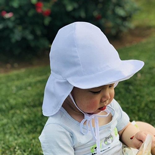 Boomly Estate Carino Berretto Anti UV Berretto per Bambino Cappello con Protezione Collo Cappello da Sole per Vacanza, Spiaggia
