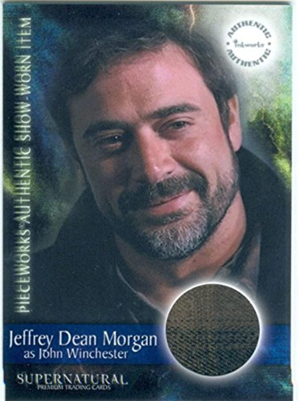 Supernatural Season 1 Pieceworks Card PW5 Shirt worn by Jeffrey Dean Morgan