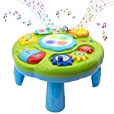 Baby Toys Musical Learning Table 12x12x7inch Music Activity Center Table Toys for Infant Babies Toddler Kids Boys Girls 6-18 Months