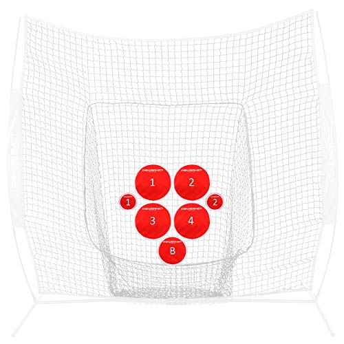PowerNet Pitch Perfect Targets   Baseball Softball Pitching Trainer   Targets Only   3 Size Target Set   Increase Pitching Throwing Accuracy Location   All Skill Level Training Aid   Strike Zone