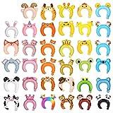 36 PCS Inflatable Headband Cute Animals Foil Balloon Headband Suits Balloon Hair Hoop for Halloween Christmas Party Favors Supplies