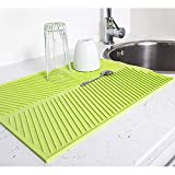 Artmoon Dry Silicone Dish Drying Mat 13X17 Silicone Trivet Mat, Pot Holder, Green