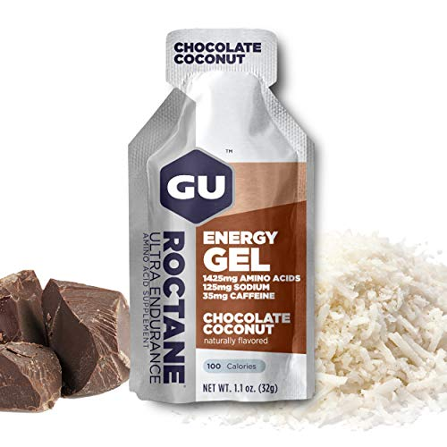 GU Roctane Energy Gel, Chocolate Coconut (chocoladecolade), box met 24 x 32 g