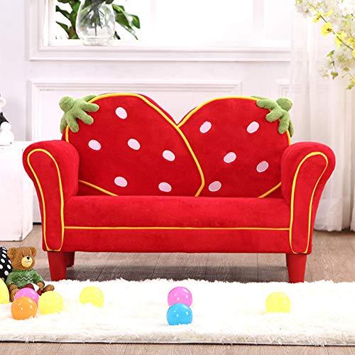Canapé Couvre 2 Places,Kid Throw Salon Lazy Couch Chaise Longue à Dossier Haut Coussin De Jardin ExtéRieur Coussin De Stade Portable, Red