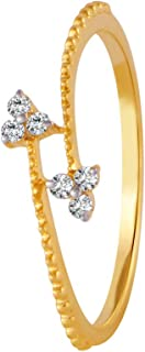 P. C. Chandra Jewellers 18 KT Yellow Gold and Diamond Ring for Women