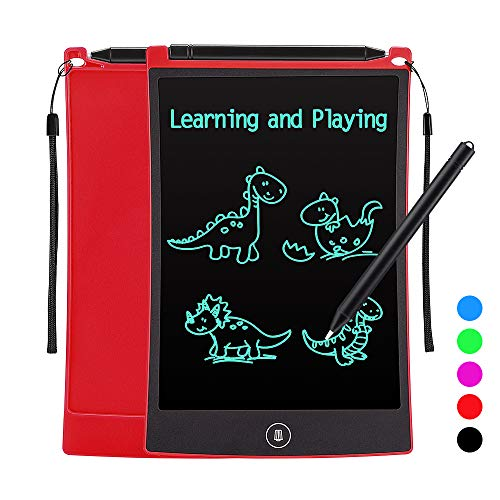 Tesoky LCD Writing Tablet,Electronic Writing Tablet for 3-12 Year Old Kids Educational Toys for Kids at Home School Travel,Toys for 3-12 Year Old Girls Best Gifts for Girls Age 3 4 5 6 7 8 9 10 (Red)