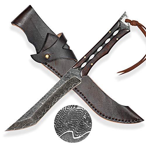DELLINGER Tanto KOSSETSU vg-10 & Damastmesser & Damaststahl Messer & Outdoor Damastmesser 145 mm Klinge
