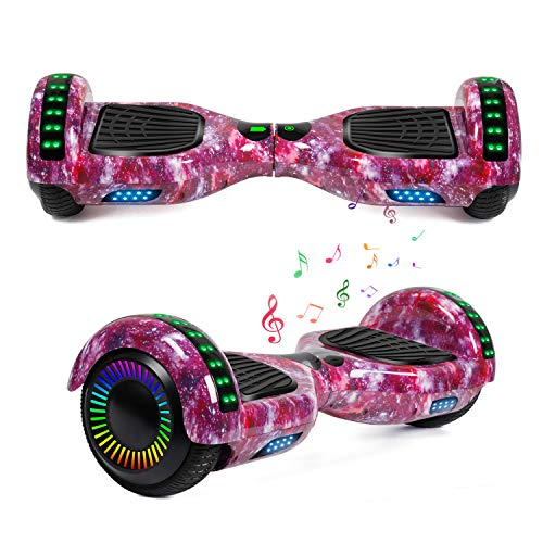 "YHR Hoverboard 6.5"" Two-Wheel Self Balancing Hover Board with Bluetooth Speaker and LED Lights Hoverboard for Kids and Adults with UL2272 Certified"