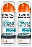 L'Oréal Men Expert Mousse à Raser Hydra Sensitive Peaux Sensibles...