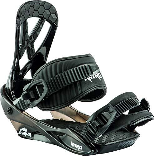 Nitro Snowboards Charger Mini-Snowboard-Bindung, Unisex, Kinder, Schwarz, S