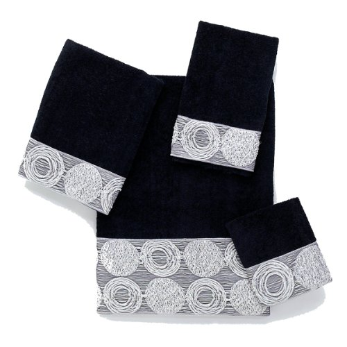 Avanti Galaxy 4-Piece Towel Set, Black
