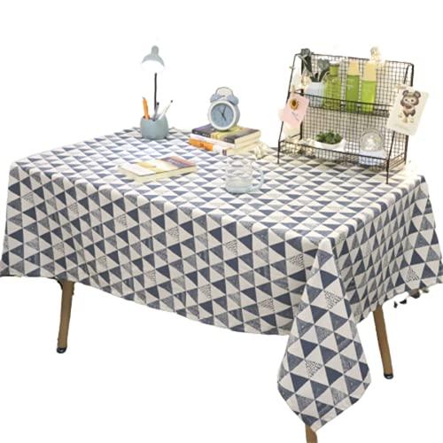 Tovaglia Rettangolare da Cucina in Poliestere Triangolo Motivo Geometrico Tovaglia Quadrata Hotel Tavolino Tovaglia Adatta per Soggiorno Decorazione Cucina Giardino Esterno 90x140cm