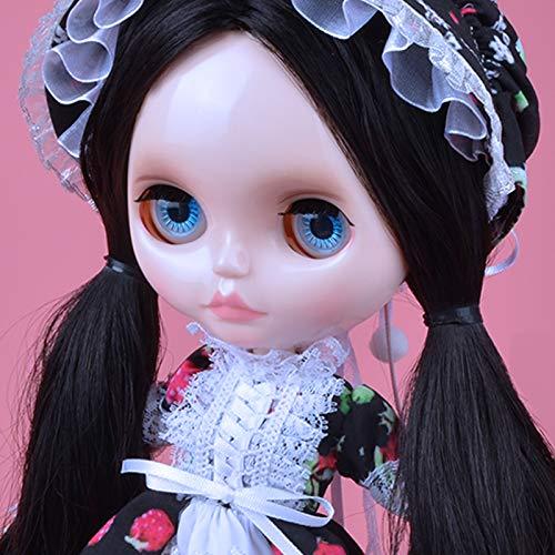 YUMMON 1/6 BJD Puppe ist der Neo Blythe ähnlich,4-farbige wechselnde Augen Shiny Gesicht und Puppen mit Kugelgelenken am Körper,12 Zoll bei denen Make-up und Kleid selbst gemacht Werden können