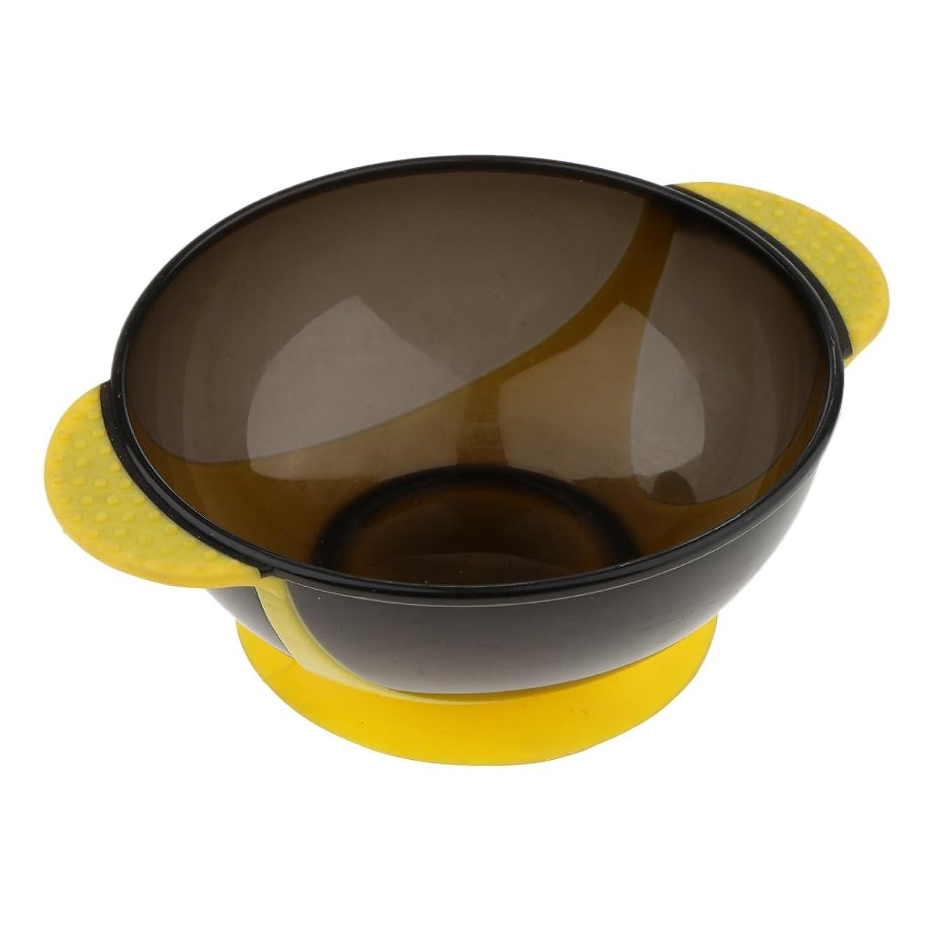 結婚式変形する物理的にHomyl ヘアダイボウル ヘアカラー ミキシングボウル 染料 色合い ボウル 吸着パッド ヘアスタイリング おしゃれ染め プラスチック製 プロ サロン DIY 3色選べる - 黄