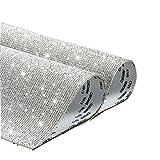Viilich 20000 Pezzi Strass di Cristallo Bling Fai da Te Decorazione Auto Adesivo Boutique Strass Glitter autoadesivi Adesivi Gemma di Cristallo per la Decorazione Regalo, 9,4 x 7,9 Pollici (Bianco)