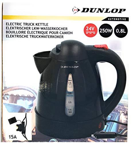 Dunlop Wasserkocher 24V 250W 0,8 Liter Tee Camping LKW Boot Maschine Bus 24 Volt
