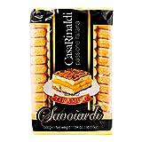 Casa Rinaldi - Savoiardi - Galletas-- Bizcochos de Soletilla para Tiramisú- Ideal para Reposteria y Horneado- Producto 100 % Italiano 500 Gramos
