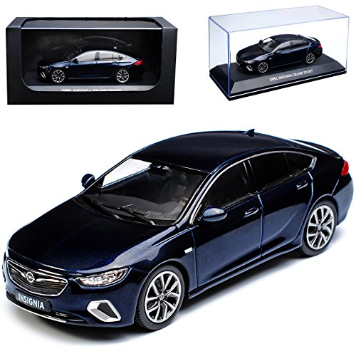 Kyosho Opel Insignia B Grand Sport Limousine Dunkel Blau Ab 2017 1/43 i-Scale Modell Auto