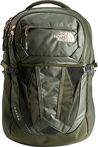 The North Face Women's Recon 30 Liter Backpack New Taupe Green Carbonite/Rose Gold