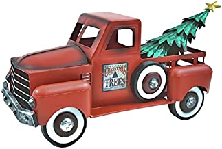 Zaer Ltd. Metal Holiday Truck with a removable Christmas Tree (Red)