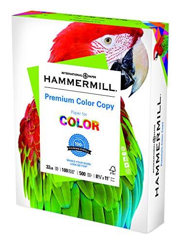 Hammermill Printer Paper, Premium Color 32 lb Copy Paper, 8.5 x 11 - 1 Ream (500 Sheets) - 100 Bright, Made in the USA, white (102630)