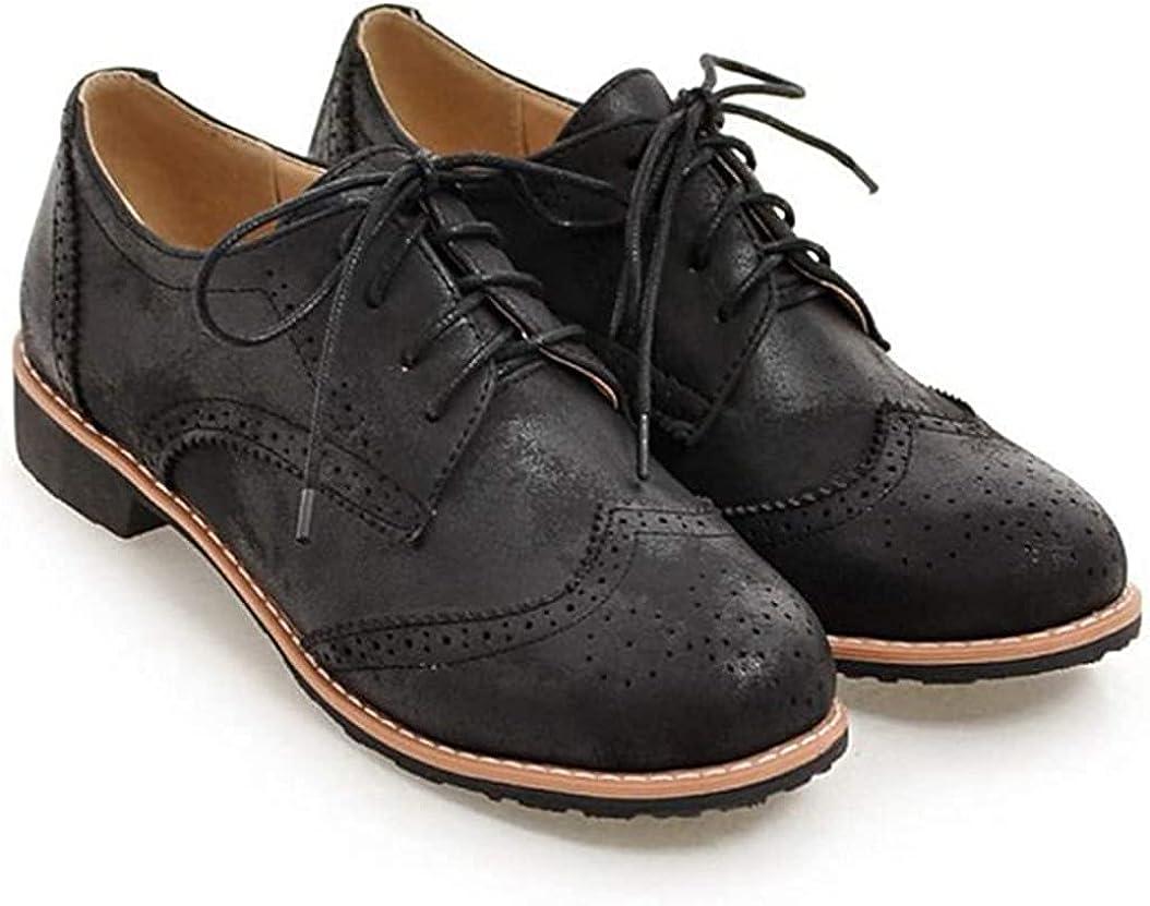 Womens Limited price sale Round Toe Flatform Oxfords Lace U Vintage Brogue discount Platform